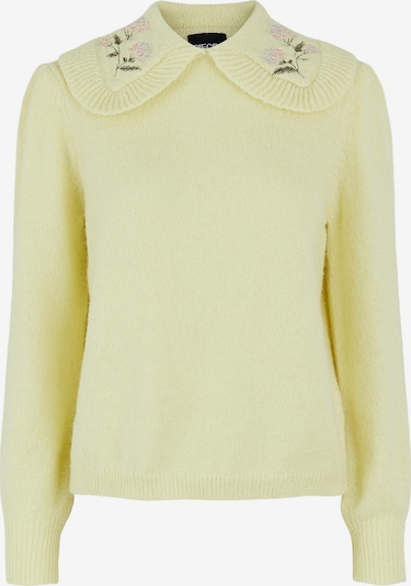 PIECES Sweater 'Enya' in Light yellow / Dark green / Orchid / Light purple, Item view