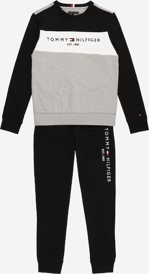 TOMMY HILFIGER Joggingpak in de kleur Grijs / Zwart / Wit, Productweergave