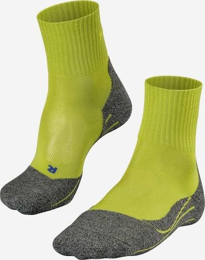 FALKE Athletic Socks in Grey / Lime, Item view