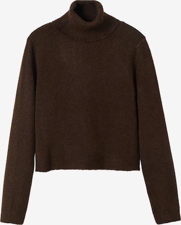 MANGO Sweter 'ICED' w kolorze brązowy