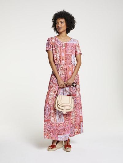 heine Kleid in orchidee / hellorange / blutrot / burgunder / weiß, Modelansicht