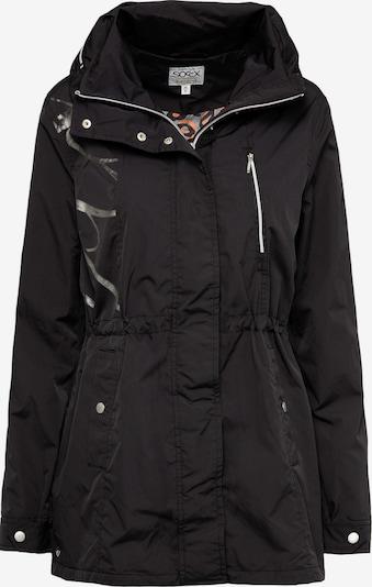 Soccx Oversized-Jacke mit Label-Applikationen in schwarz, Produktansicht