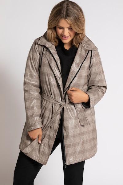 Ulla Popken Regenmantel in grau, Modelansicht