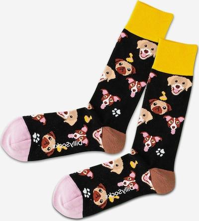 DillySocks Socken 'Dog Eat Dog' in mischfarben / schwarz, Produktansicht