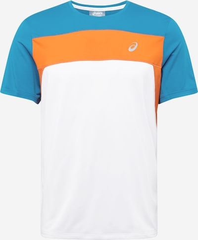 ASICS Sporta krekls 'Race' debeszils / oranžs / balts, Preces skats