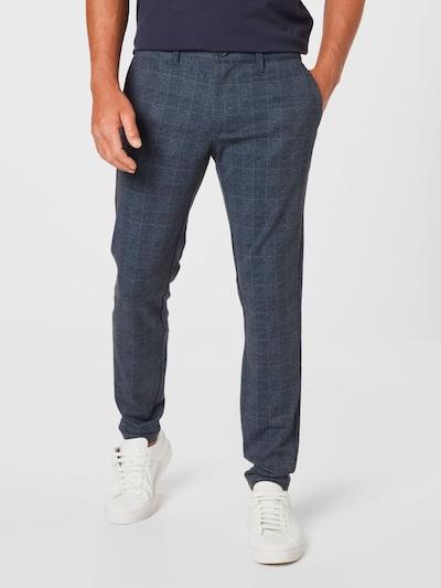 Only & Sons Chino nohavice 'Mark' - námornícka modrá / tmavomodrá / biela, Model/-ka