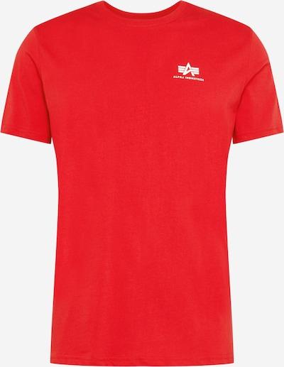 ALPHA INDUSTRIES Bluser & t-shirts i rød / hvid, Produktvisning
