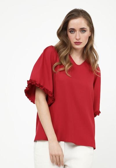 Madam-T Bluse 'Rossitta' in rot, Modelansicht