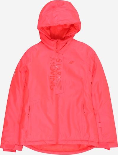 4F Outdoorjas in de kleur Rood, Productweergave