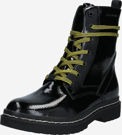 Suvarstomieji kulkšnis dengiantys batai iš TOM TAILOR DENIM , spalva - geltonosios citrinos spalva / juoda, Prekių apžvalga