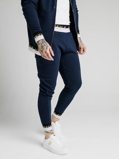 SikSilk Kalhoty - námořnická modř / zlatě žlutá / černá / bílá, Model/ka
