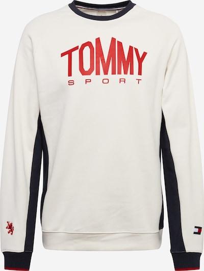 Tommy Sport Sweat de sport en bleu nuit / melon / blanc chiné, Vue avec produit