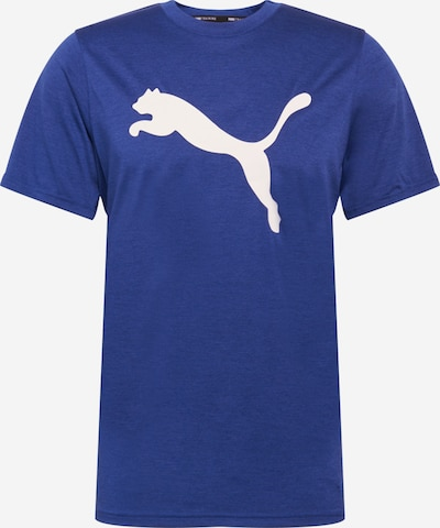 PUMA Camiseta funcional 'Heather Cat' en azul moteado / blanco, Vista del producto