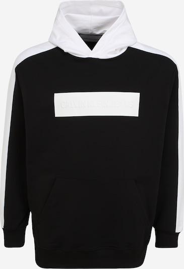 Calvin Klein Jeans Plus Sweatshirt in de kleur Zwart / Wit, Productweergave