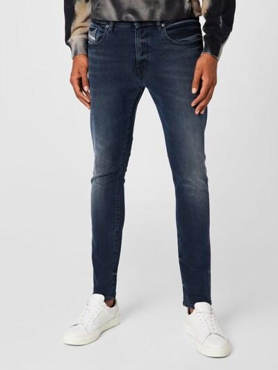 DIESEL Jeans 'STRUKT' in dunkelblau / rot / weiß, Modelansicht