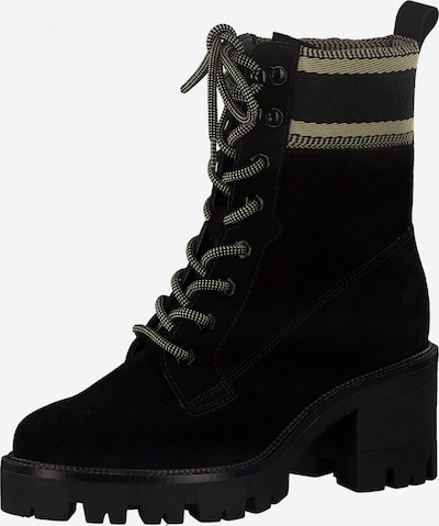 TAMARIS Lace-Up Ankle Boots in Kitt / Black, Item view