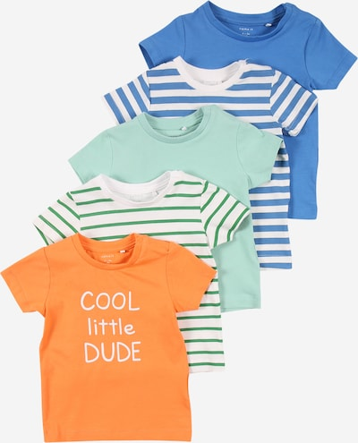 NAME IT Camiseta en mezcla de colores, Vista del producto
