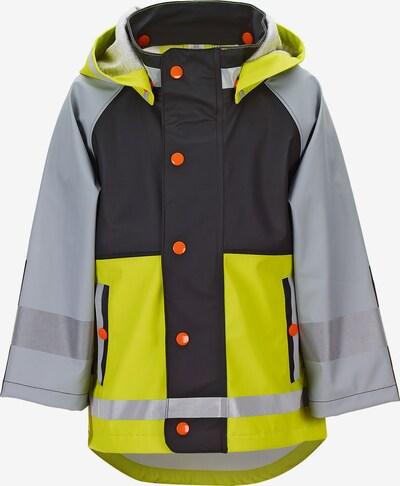 STERNTALER Jacke in grau / limette / dunkelorange / schwarz, Produktansicht