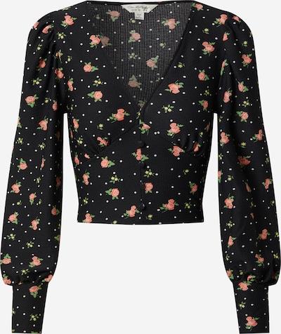 Miss Selfridge Blouse 'FOCHETTE' in de kleur Groen / Rosa / Zwart, Productweergave