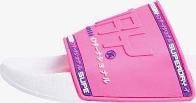 Superdry Claquettes / Tongs 'City Neon' en rose, Vue avec produit
