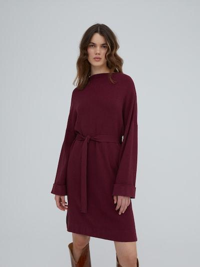 EDITED Kleid 'Nata' in burgunder, Modelansicht