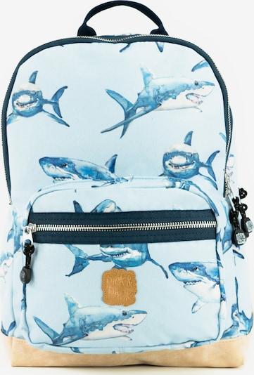 Pick & Pack Rucksack 'Shark' in blau / navy / hellblau, Produktansicht