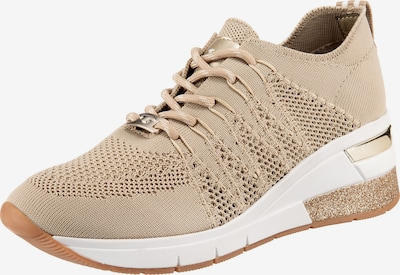 TOM TAILOR Sneaker in beige / gold, Produktansicht