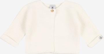 PETIT BATEAU Knit Cardigan in White