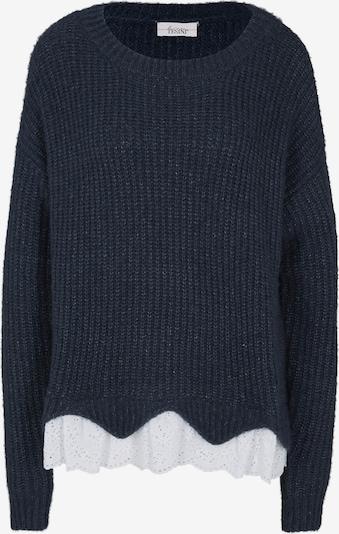 heine Pullover in nachtblau / weiß, Produktansicht