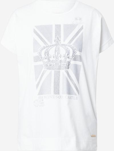 La Martina T-shirt en argent / blanc cassé, Vue avec produit