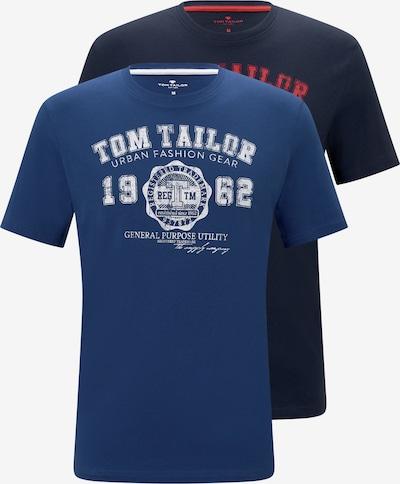 TOM TAILOR T-Shirt en bleu / bleu marine / rouge / blanc, Vue avec produit