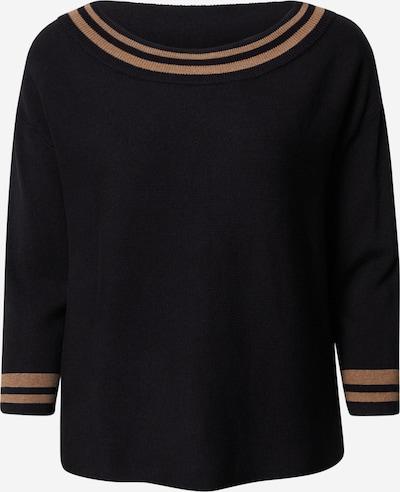 COMMA Pullover in beige / schwarz, Produktansicht
