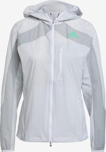 ADIDAS PERFORMANCE Sportjacke 'Marathon' in grau / hellgrau / weiß, Produktansicht