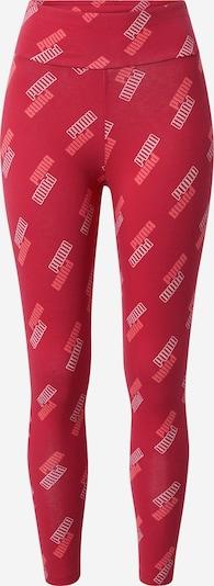 PUMA Sporthose in cranberry / dunkelrot / weiß, Produktansicht