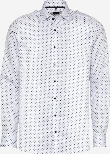 OLYMP Риза в синьо / кафяво / бяло, Преглед на продукта