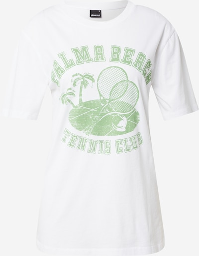 Gina Tricot T-Shirt 'Ellie' in hellgrün / weiß, Produktansicht