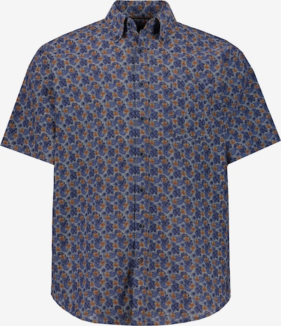 JP1880 Overhemd in de kleur Navy / Grijs / Donkerrood, Productweergave