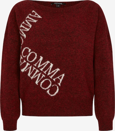 COMMA Sweater in Dark red / White, Item view