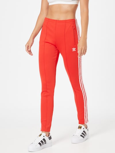 ADIDAS ORIGINALS Pants in Red / Wool white, View model