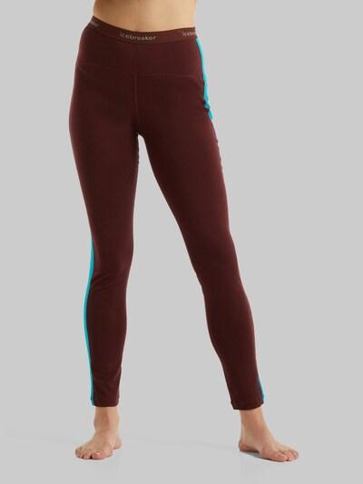 Pantaloni sport ICEBREAKER pe albastru / gri / roșu bordeaux, Vizualizare model