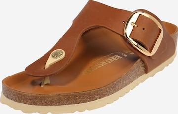 BIRKENSTOCK T-Bar Sandals 'Gizeh' in Brown