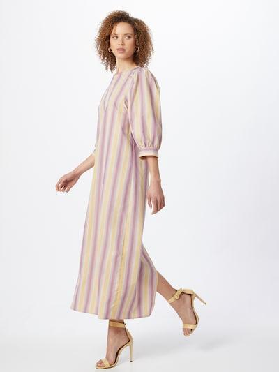 Samsoe Samsoe Kleid 'Celestina' in gelb / lila / weiß, Modelansicht