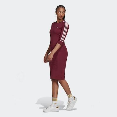 ADIDAS ORIGINALS Jurk in de kleur Bordeaux / Wit, Modelweergave