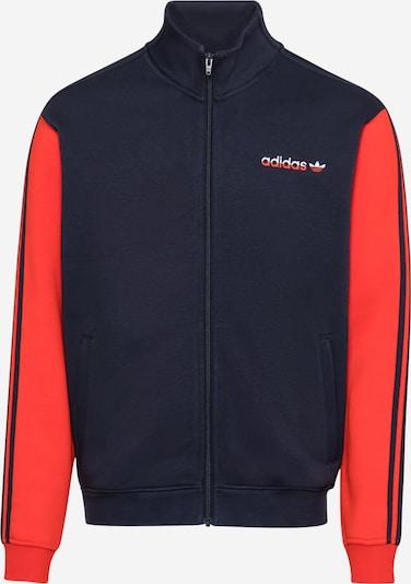 ADIDAS ORIGINALS Fleece jas 'Firebird' in de kleur Donkerblauw / Lichtrood, Productweergave