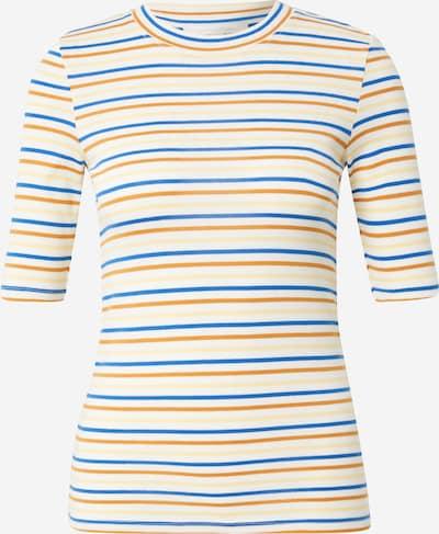 TOM TAILOR DENIM Shirt in de kleur Crème / Marine / Karamel / Lichtgeel, Productweergave