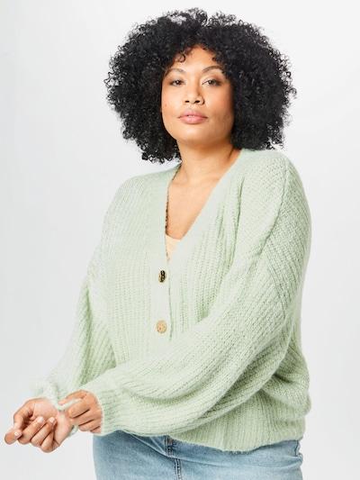 Missguided Plus Плетена жилетка в мента: Изглед отпред
