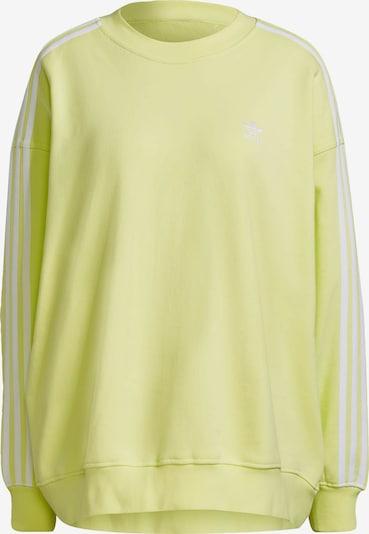 ADIDAS ORIGINALS Sweatshirt in gelb / weiß, Produktansicht