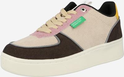 Benetton Footwear Niske tenisice u tamno plava / svijetlosmeđa / zlatno žuta / siva / prljavo roza, Pregled proizvoda