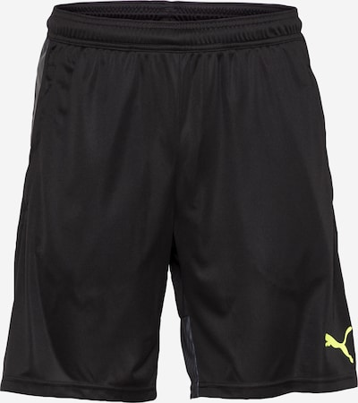 PUMA Sporta bikses neona dzeltens / melns, Preces skats