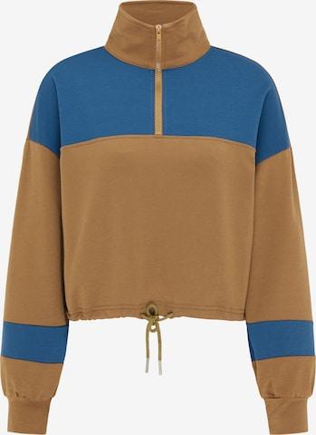 myMo ATHLSR Athletic Sweatshirt in Brown